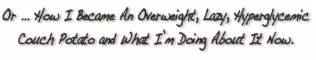 How I Became An Overweight, Lazy, Hyperglycemic Couch Potato and What I'm Doing About It Now.